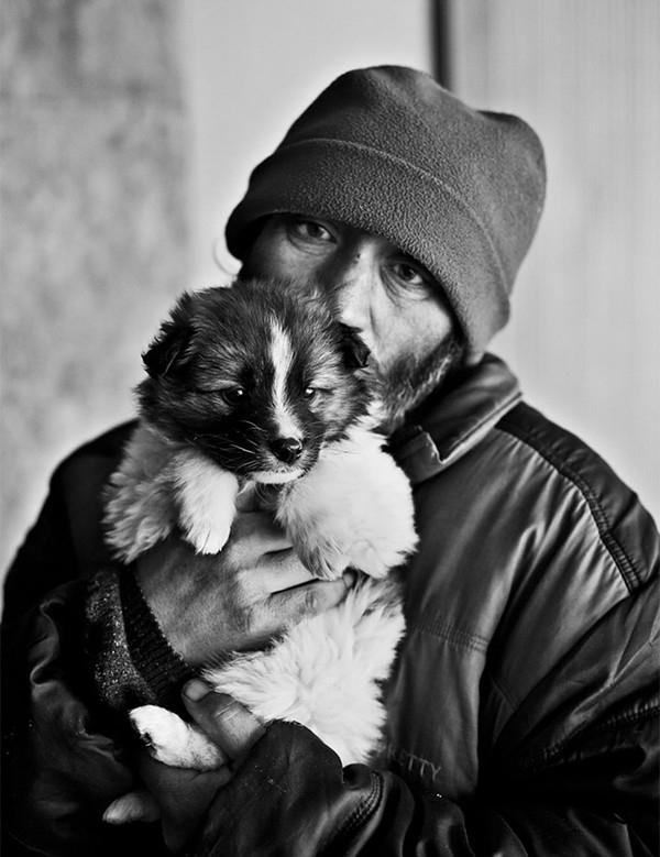 Rơi lệ với chùm ảnh chó không chê chủ nghèo
