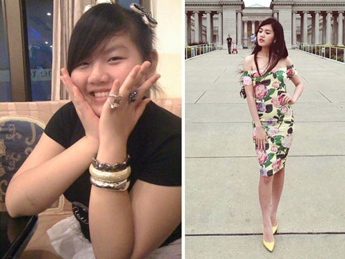 4 cô gái giảm cân ngoạn mục thành hot girl