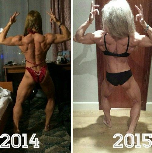 Việc lao vào luyện tập không ngừng khiến vóc dáng và ngoại hình của cô gái trẻ thay đổi trông thấy