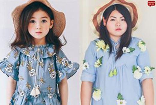 """Sine còn """"bắt chước"""" cả trang phục của chị em Ava và Ellie Field nữa. (Ảnh: Internet)"""