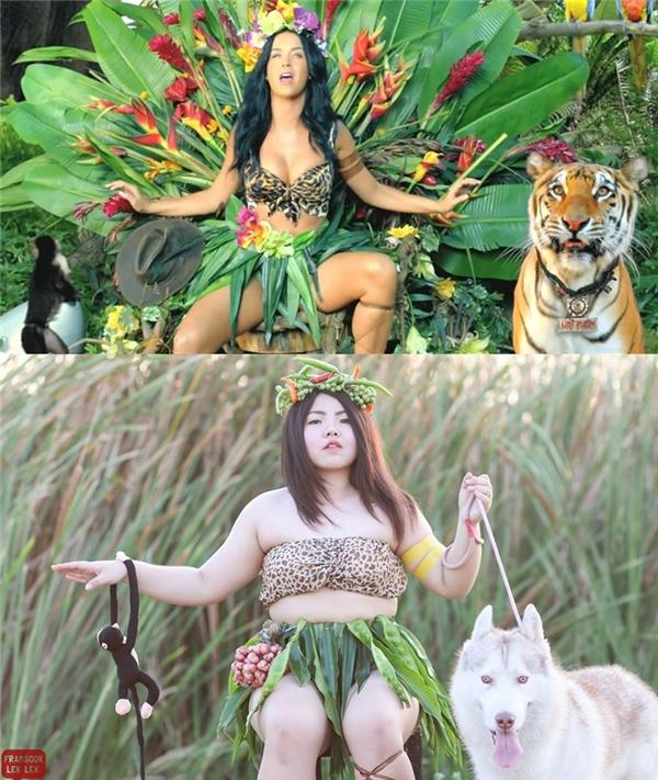 Katy Perry cũng không nằm ngoài danh sách cosplay của Sine. (Ảnh: Internet)