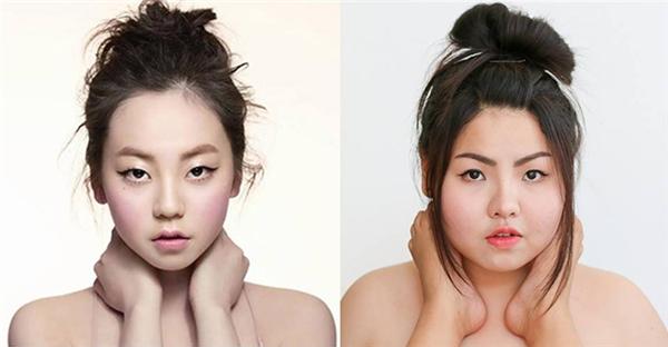 Các bạn có nhận ra điểm khác biệt giữa hai bức ảnh không? Đó chính là đôi tay ôm lấy cổ của Sohee đã bị thay đổi đấy. (Ảnh: Internet)