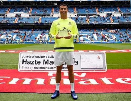 Ronaldo được bầu là cầu thủ khỏe nhất Real