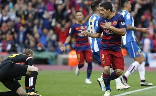 Barca trừng phạt Espanyol bằng chiến thắng đậm 5-0.Ảnh: Getty Images.