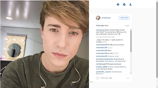 Top 10 soái ca được săn lùng nhiều nhất trên Instagram
