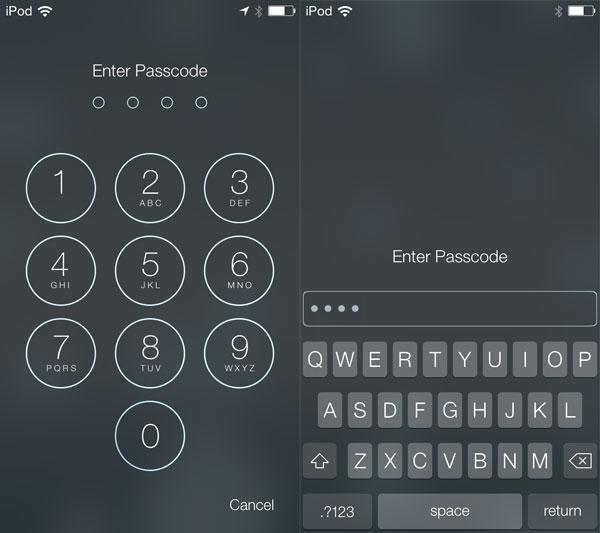 Thông thường, điện thoại cần mật khẩu 4 con số, nhưng bạn có thể tự tạo mật khẩu dài và phức tạp hơn bằng cách vào Settings => General => Passcode Lock rồi tắt phần Simple Passcode đi. Tự động bạn sẽ được yêu cầu nhập mật khẩu mới dài hơn.