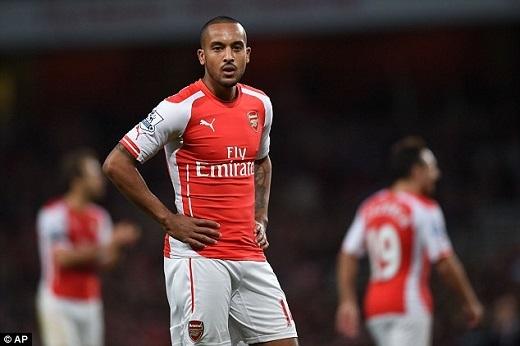 Theo Walcott không còn nhiều cơ hội ở Emirates