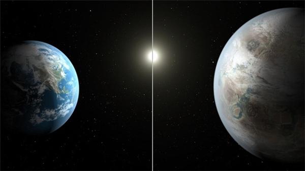 """Hành tinh Kepler 452b (hình phải) được cho là """"Trái đất thứ 2"""""""