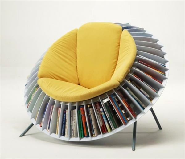 """Chẳn hẳn là sẽ rất tuyệt khi bạn cảm giác như cả """"thư viện"""" sách vây quanh chỉ bằng một cái với tay."""