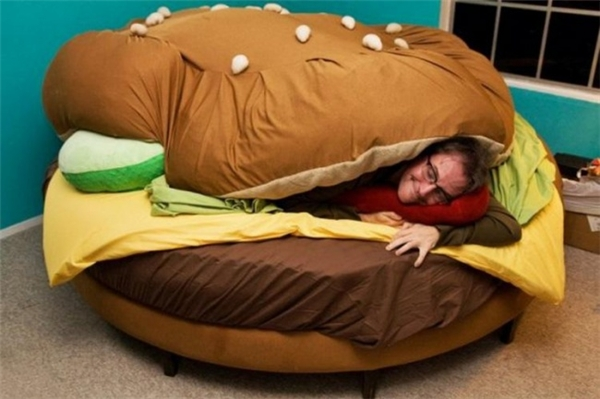 Chiếc giường của những người yêu hamburger là đây!