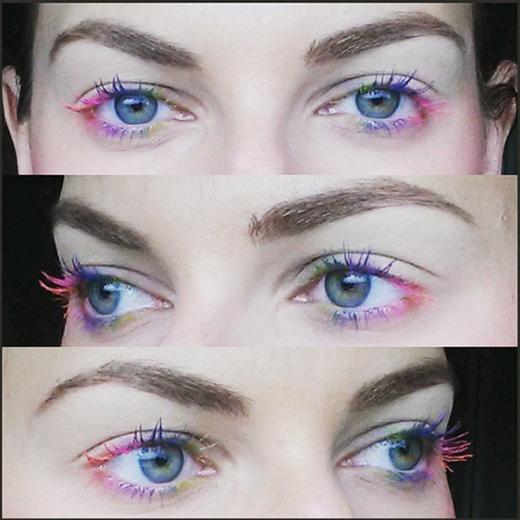 Chỉ cần chuốt mascara nhiều màu sắc, lông mi của bạn sẽ trở nên nổi bật hơn rất nhiều. (Ảnh: Internet)