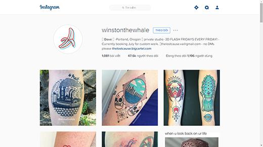 Nhờ những hình xăm cực kì độc đáo mà trang Instagram của anh có hơn 40 ngàn lượt theo dõi. (Ảnh: Internet)
