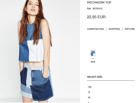 Sắc xanh denim và phong cách denim đã thực sự trở thành xu hướng được ưa chuộng bậc nhất trong mùa hè năm nay. Minh Hằng đón đầu xu hướng với áo hở eo phối cùng chân váy midi. Bộ trang phục này có giá khoảng 600 ngàn.