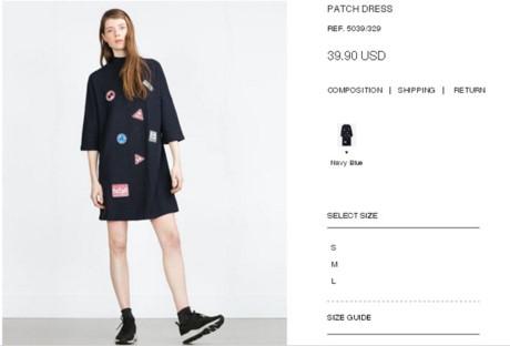 Chiếc váy đính sticker khá đáng yêu của nữ ca sĩ có giá khoảng 900 ngàn đồng.