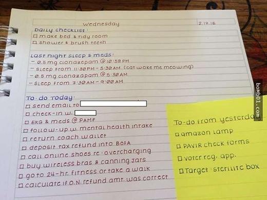 Khi bạn quá lười thực hiện kế hoạch trong tuần, hãy đọc lịch làm việc này. Chắc chắn nhữngnét chữ gãy gọn và đầy cảm hứng trênsẽ tiếp thêm sức mạnh cho bạn làm việc đấy. (Ảnh:Bomb01)