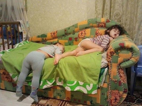 Ngay cả khi ngủ chúng cũng tràn đầy năng lượng.(Ảnh: Internet)