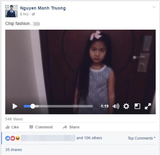 """Nam diễn viên Mạnh Trường chia sẻ đoạn clip con gái tập catwalk ở nhà. Dù còn nhỏ nhưng bé Chíp đã có đầy đủ tố chất của một """"mẫu nhí"""". - Tin sao Viet - Tin tuc sao Viet - Scandal sao Viet - Tin tuc cua Sao - Tin cua Sao"""