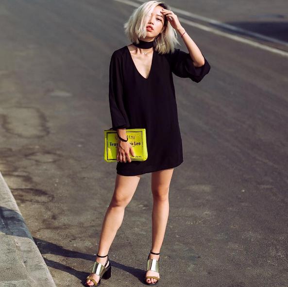 Cô nàng Daulbe với phong cách đơn giản và rất hiện đại.