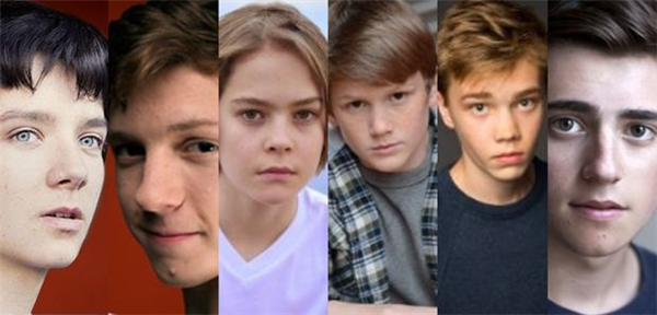 6 ứng cử viên cuối cùng cho vai Nhện teen. Asa Butterfield (đầu tiên bên trái) mới là người được đông đảo fan ủng hộ