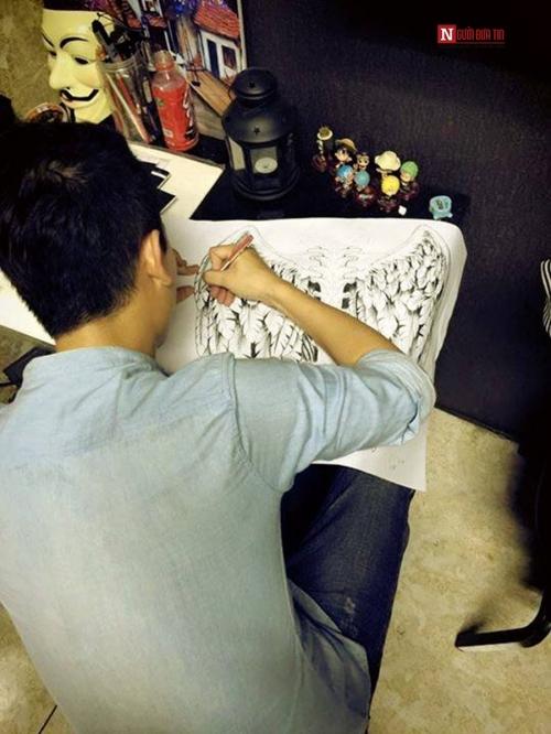 Xăm hình là niềm đam mê của Hoài Nam.