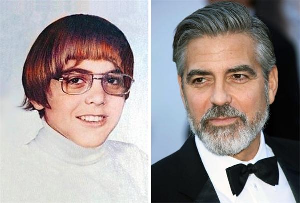 Ai mà ngờ được tài tử George Clooney ngày xưa lại từng để kiểu tóc úp nồi quê mùa. (Ảnh: Nick vàNina Clooney; s_bukley)