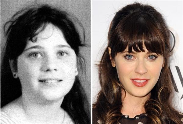Cô nàng diễn viên hài nổi tiếng Zooey ngày xưa trông rất mũm mĩm, đáng yêu, còn bây giờ thì quyến rũ không thua gì ai. (Ảnh: Seth Poppel; Angela Weiss)
