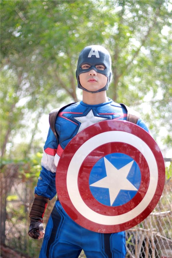 Trước ngày bấm máy thực hiện phim ngắn, Tim đã nhận lời vào vai Captain America trong series phim hài để chiều lòng con trai. - Tin sao Viet - Tin tuc sao Viet - Scandal sao Viet - Tin tuc cua Sao - Tin cua Sao