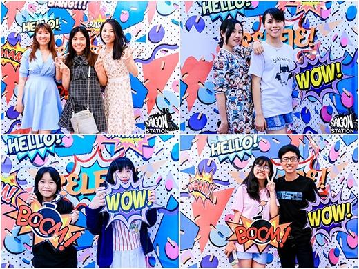 """Giới trẻ thi nhau """"pose"""" hình tại photobooth cực chất của phiên chợ lần 1."""