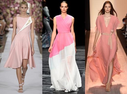 """Các tuần lễ thời trang từ New York, London, Paris cho đến Milan đều tích cực """"lăng xê"""" màu hồng. (Ảnh: Internet)"""