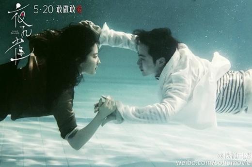Lưu Diệc Phi và Dư Thiếu Quần trong cảnh quay dưới nước ấn tượng.