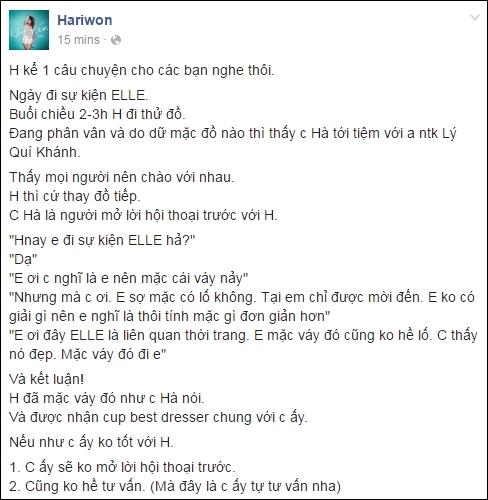 """Hari Won lên tiếng về hành động bị """"tố"""" chảnh chọe của Hà Hồ - Tin sao Viet - Tin tuc sao Viet - Scandal sao Viet - Tin tuc cua Sao - Tin cua Sao"""