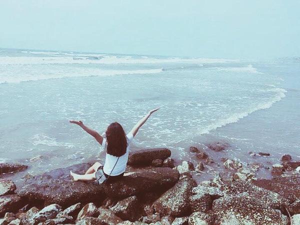 Được tận hưởng cái nắng, cái gió, vị mặn mòi của nước biển mới tuyệt làm sao...
