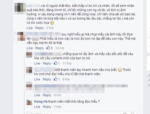 Phản ứng của cộng đồng mạng trước hành vi câu like củaN.P.N. (Ảnh: Internet)