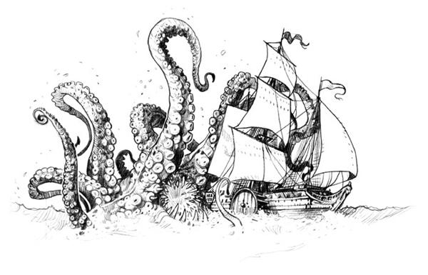 Phải chăng thủy quái vì mê người đẹp nên mới gây đắm tàu? (Ảnh: Internet)