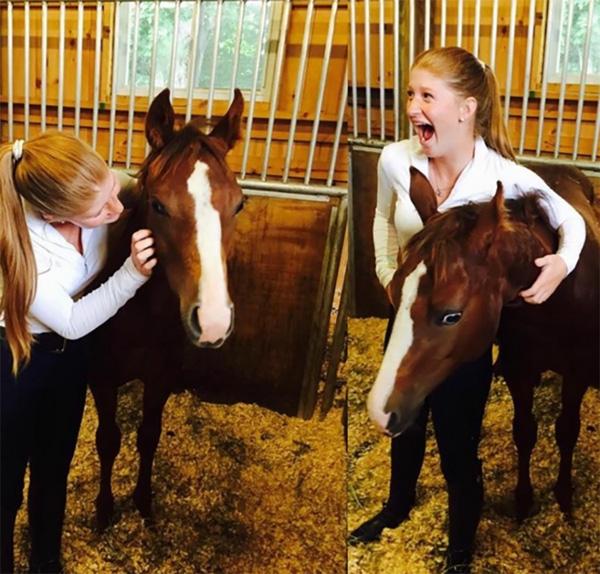 Giống như nhiều tiểu thư nhà giàu khác, Katherine cũng nuôi riêng cho mình niềm đam mê với môn đua ngựa.