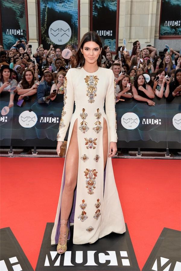 Chiếc váy xẻ từng nhận được nhiều lời tán thưởng của khán giả, người hâm mộ cũng như các tín đồ thời trang thế giới.