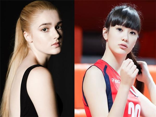 Alisa Manyonok (trái) và Sabina Altynbekova