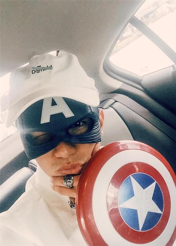 """Cường Seven """"cosplay"""" Captain America khiến fan thích thú. - Tin sao Viet - Tin tuc sao Viet - Scandal sao Viet - Tin tuc cua Sao - Tin cua Sao"""