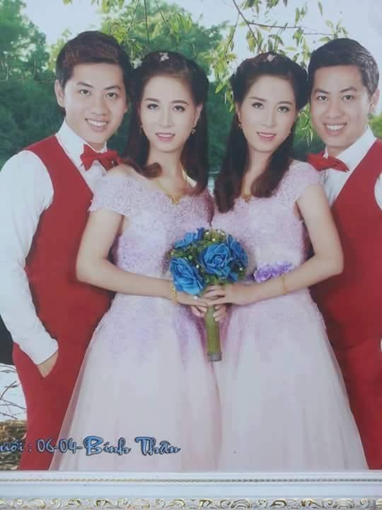 Chuyện hiếm: Chị em song sinh lấy cặp anh em sinh đôi cùng ngày