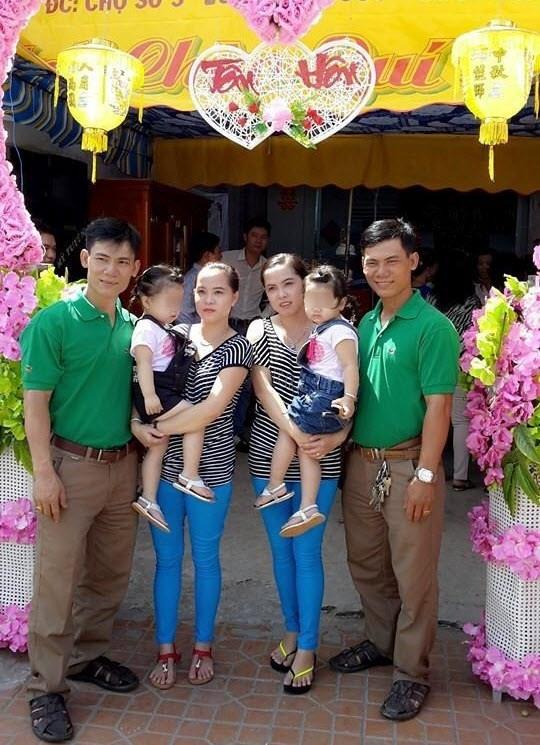 Anh em sinh đôi lấy chị em song sinh và có hai bé gái giống hệt nhau tại An Giang