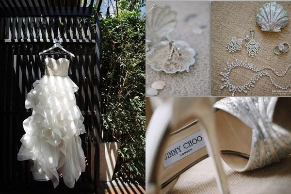 Đám cưới đẹp như mơ của cặp đôi tỷ phú trẻ được tổ chức trong một resort 6 sao tại đảo Hua Hin (Thái Lan). Yêu thích sự đơn giản, tinh tế, cô dâu Yui lựa chọn màu trắng là tông màu chủ đạo của tiệc cưới.
