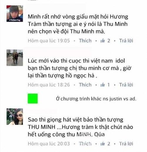 """Tuy nhiên, phát ngôn này của nữ ca sĩ ngay lập tức bị """"ném đá"""" vì trướcđó không lâu, cô cũng hết lời khen ngợi Thu Minh và thừa nhận Thu Minh là thần tượng thuở bé. - Tin sao Viet - Tin tuc sao Viet - Scandal sao Viet - Tin tuc cua Sao - Tin cua Sao"""