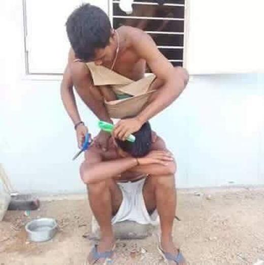 Đu lên đầu lên cổ ông mà cắt không xong thì ông cho ăn bạt tai!(Ảnh: Internet)