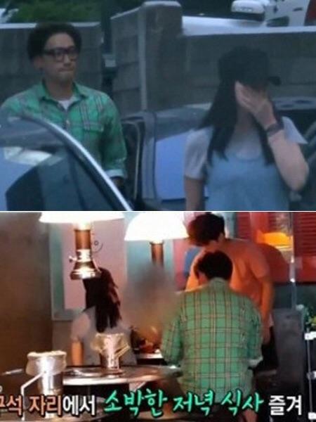 """Tháng 6/2015, người hâm mộ bắt gặp đôi """"tiên đồng ngọc nữ"""" đang tận hưởng bữa tối tại một nhà hàng cao cấp thuộc quận Gangnam, Seoul. Trước đó, Kim Tae Hee đã đến phim trường tại Trung Quốc thăm bạn trai song những hình ảnh trong chuyến đi này hoàn toàn được giữ kín."""