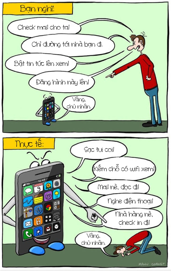 Bạn nghĩ rằng smartphone có thể làm mọi thứ cho bạn ư? Thực ra thì nó chính là thứ đang kiểm soát cuộc sống của bạn đấy. (Ảnh: Internet)