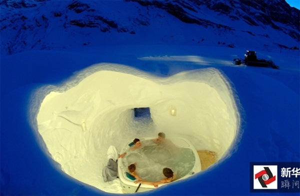 Iglu Dorf – một trong những khách sạn được mệnh danh là lạnh nhất thế giới khi được xây dựng dưới lòng băng tuyết.