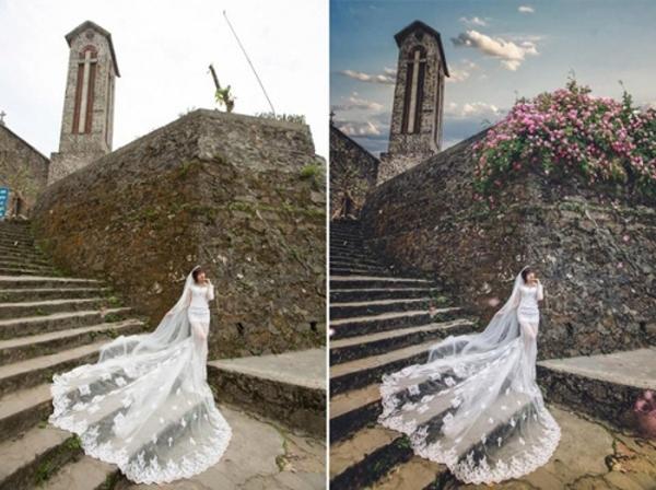 Hình ảnh trước và sau chỉnh sửa khiến nhiều người bất ngờ.