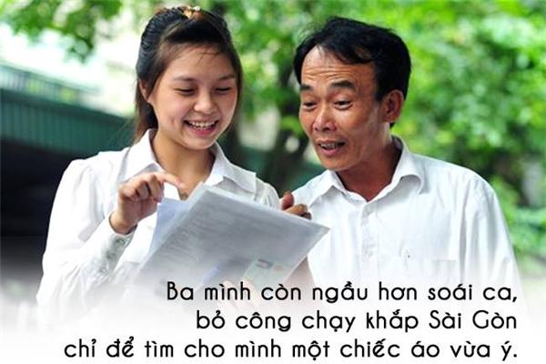 Với con gái, bố mãi mãi là soái ca không thể thay thế