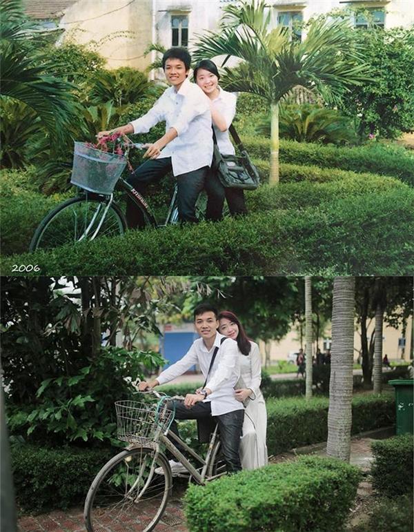 Tiến Dũng - Thanh Hằng trở thành tâm điểm chú ý của dân mạng khi ảnh cưới ngày ấy - bây giờ của hai người được chia sẻ