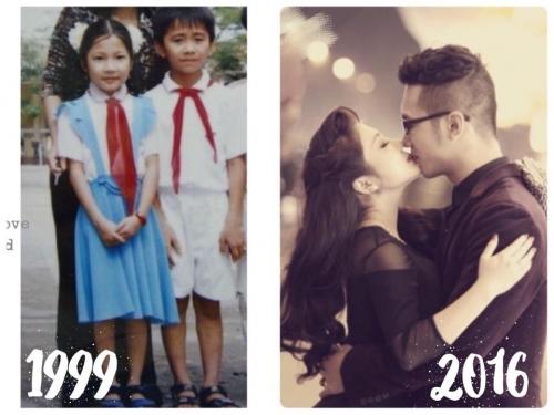 Chuyện tình yêu 17 năm của cặp đôi Thu Thủy và Duy Khánh gây bão mạng.